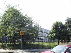 [The Lower School (former Rowantree Secondary Modern) in July 2002.]