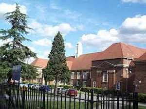 [The Upper School (former Edmonton County Grammar School) in September 2002.]
